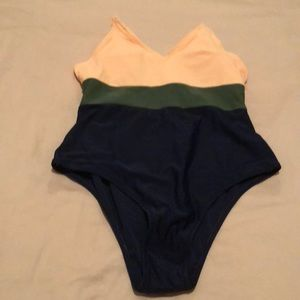 Other - Color block bathing suit. One piece.